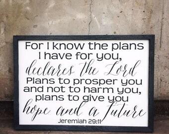 Jeremiah 29:11 sign