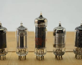 5 Vintage Vacuum Tubes - Electronic Parts Radio Tubes TV Tubes Amplifier Tubes Industrial Parts Collage Steampunk Art Supply E5-3