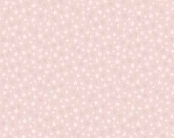 Lewis & Irene Welcome to the World A217.2 Little Pink Stars Patchwork Quilting Dressmaking Fabric