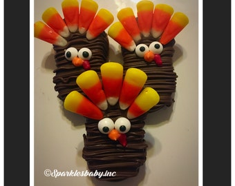 Thanksgiving Turkey Nutter Butters- Set of 12 Chocolate Turkey Nutter butter