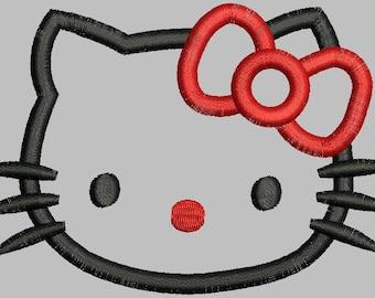 Hello Kitty Applique Head