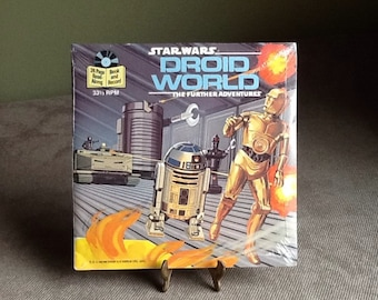 Vintage Star Wars Droid World, the 33 1/3 RPM record & read along Book From 1980s