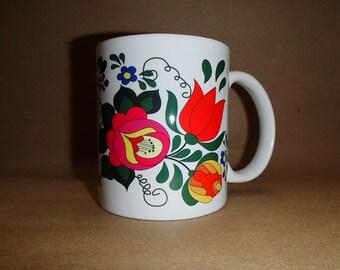 Folk Art Flowers Coffee Tea Mug