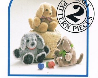 Dog Toy Sewing Pattern - Easy Stuffed Dog Toy Sewing Pattern - Craft Sewing Pattern - Carol's Zoo - Carol's Puppy