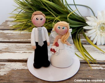 figurines for cake of marriage, married and married (wedding cake topper)