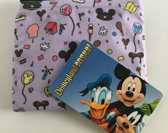 MINI Disneyland-Inspired Park Essentials Light Purple Handmade Small Zipper Pouch/Coin Purse