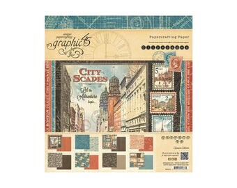 Graphic 45 Cityscapes 8 x 8 Paper Pad