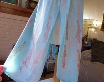 Tie Dye Slip Skirt BOHO Slip Dress, Upcycle Slip