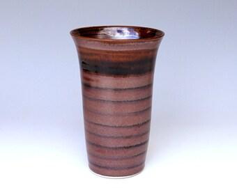 Porcelain vase, tall vase, red vase, ceramic vase, handmade vase, high fired