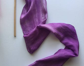 Purple silk twirling baton