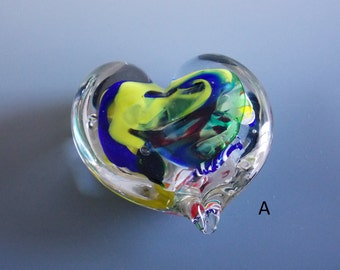 Solid Hand Blown Heart Paperweight