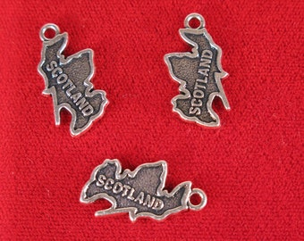 "5pc ""Scotland"" charms in silver style (BC1179)"
