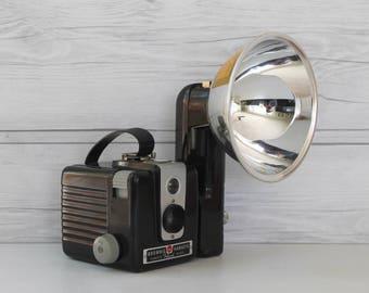Vintage Kodak Brownie Hawkeye Flash Model Camera, Retro Camera