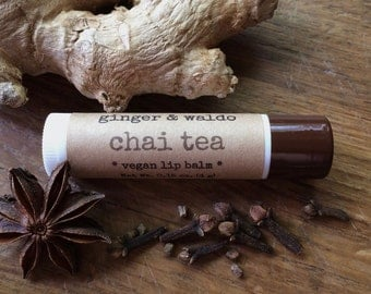 Chai Tea Lip Balm - Chai Tea - Lip Balm - Vegan Lip Balm - Beeswax Lip Balm