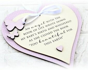 Angel Baby Memorial Plaque