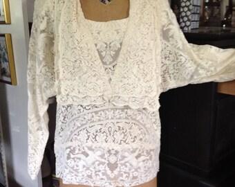 Antique lace blouse