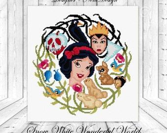 Snow White Wonderful World - cross stitch pattern - PDF pattern - instant download!