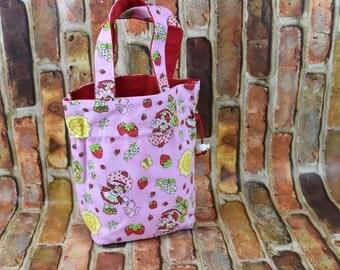 Girls Purse | Strawberry Shortcake Purse | Toddler Girls Purse | Toddler Purse | Girls Tote Bag | Cinch Sack | Cinch Bag | Mini Tote Bag