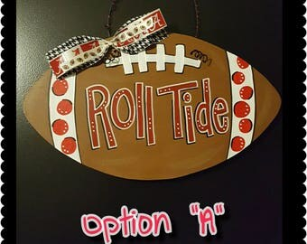 Custom Alabama Football Door Hanger Roll Tide