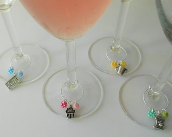 Baker Set Wine Charms, Novelty Fun Baking Charms, Hostess Gifts, Chef Present Ideas, Cooking Couple Token, Party Dinner Decor, House Warming