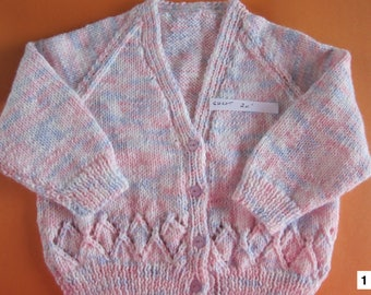 Hand knitted children cardigan sweaters, knit kids clothes, toddler baby knitwear