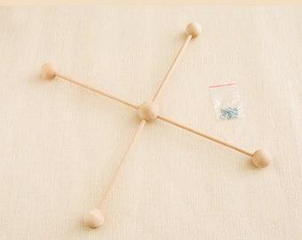 1 x Baby Wooden Mobile Hanger. diy baby mobile. natural wood unfinished mobile decor 30cm. mobile fram kit wooden mobile Baby Crib
