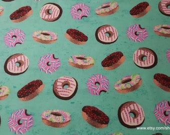 Flannel Fabric - Tie Dye Donuts - 1 yard - 100% Cotton Flannel