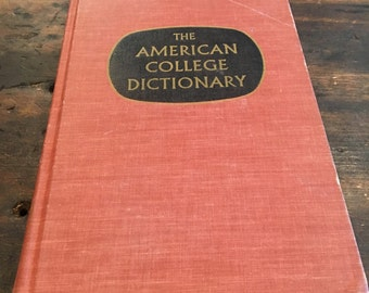 1968 American College Dictionary with Illustrations / 1444 Pages