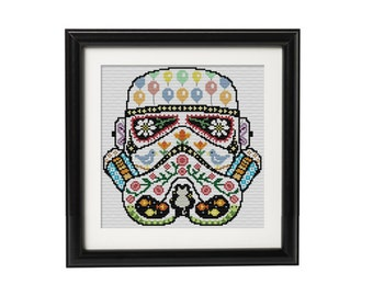 BUY 2 Patterns and GET 1 FREE -- Stormtrooper Star Wars Crossstitch Pattern
