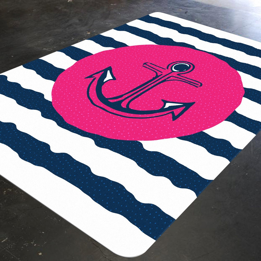 Nautical Rug Pink And Navy Nautical Pink And Navy Nursery
