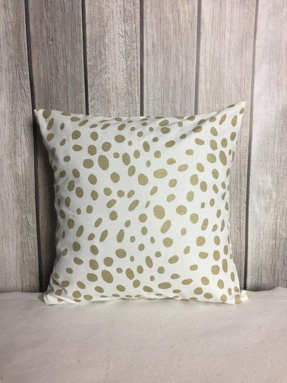 Metallic Pillow. Gold Pillow. Throw Pillow. Pillow Cover. Gold Metallic Pillow