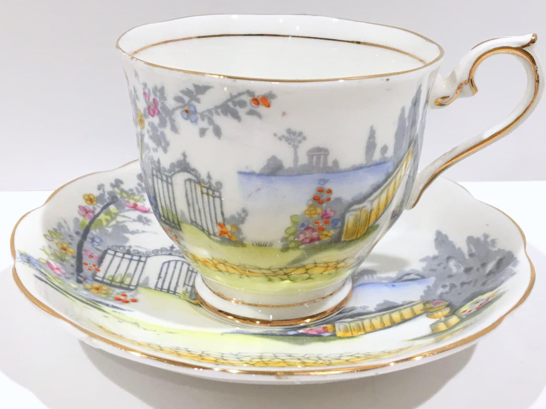 rosedale royal albert tea cup and saucer english tea cups. Black Bedroom Furniture Sets. Home Design Ideas