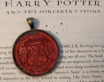 Harry Potter Letter Seal Necklace Charm