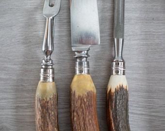 Vintage Stag Knife Etsy