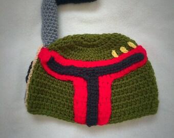 Boba Fett Hat - Crochet Star Wars Boba Fett Costume - Kids Star Wars Costume - Comic-Con Costume - Baby Cosplay - Star Wars - Newborn