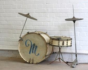 Jazz Era Drum Kit Circa 1930's