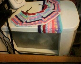 One crochet boot cuff