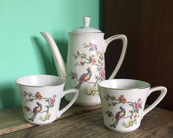 Lipper and Mann Creations coffee pot and cups