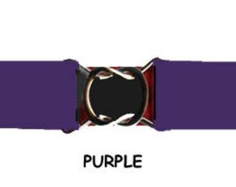 STRETCH-ELASTIC-BELT - Purple * 3-Sizes for Kids & Adults *  Adjustable on Both Sides