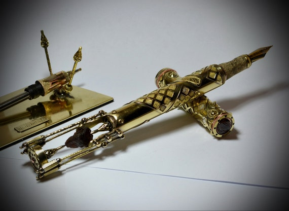 Steampunk stylo plume «Grenat naturel» V1.1