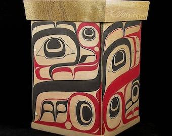 Bentcorner  Box of Sea Monster by Terry Jackson Northwest Coast Native art Style