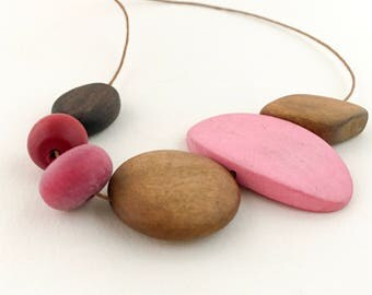 """Bead Necklace """"Pink Punch"""""""