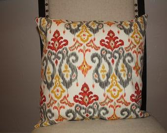 Decorative Home Essentials Red Ikat Pillow Case 16x16