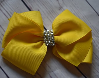 Yellow Boutique Style Hair Bow