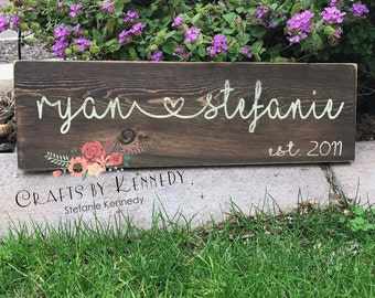 Est sign / anniversary sign / established sign / wedding sign / home decor
