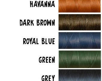 Tiger thread. 22 yards (20 metres). Polyester waxed thread ideal for leathercraft. Ritza.