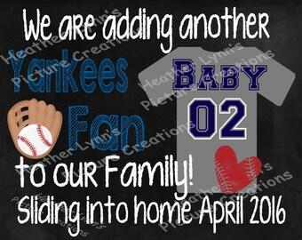 Pregnancy Announcement, Baseball Pregnancy Announcement