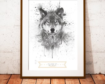 Wolf  - limited edition print 210 x 297 mm, numbered and signed
