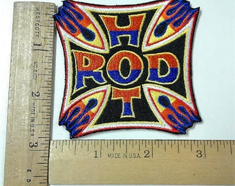Hot Rod Iron on Patch