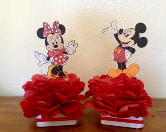 mickey and minnie centerpiece, mickey and minnie decorations, mickey and minnie party, mickey mouse decorations, minnie mouse decorations